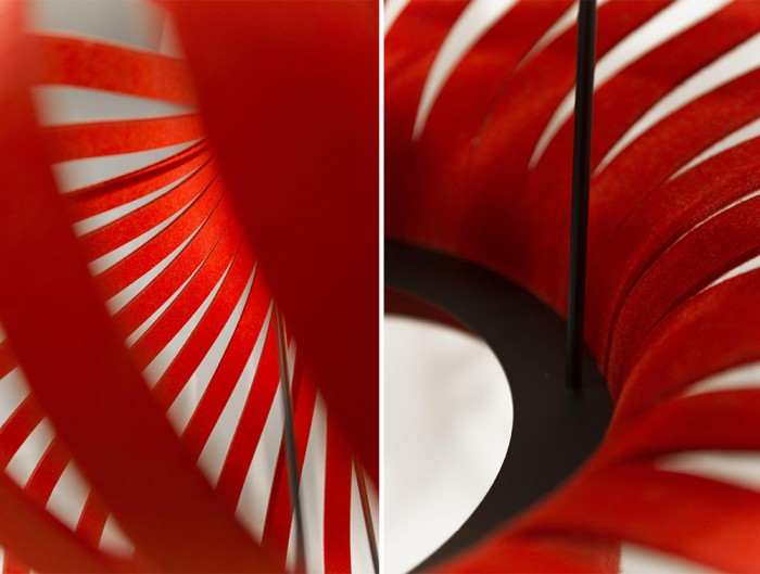BuzziSpace-Mono-Decorative-Acoustic-Ceiling-Light-Red-Frame