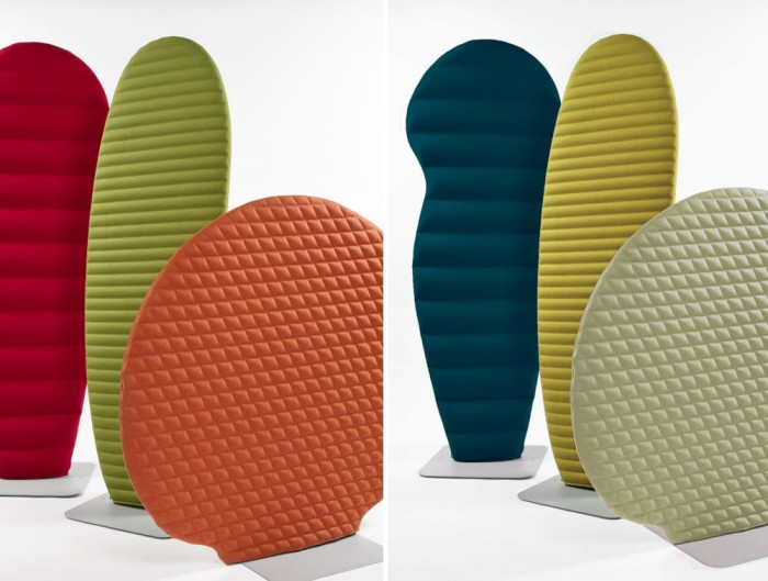 BuzziSpace Plant Freestanding Flexible Acoustic Ribbed Panel