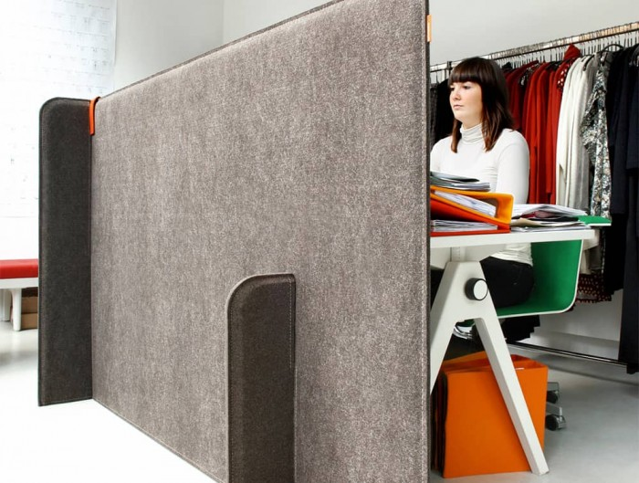 BuzziSpace Zone Acoustic Freestanding Room Divider Private Corner