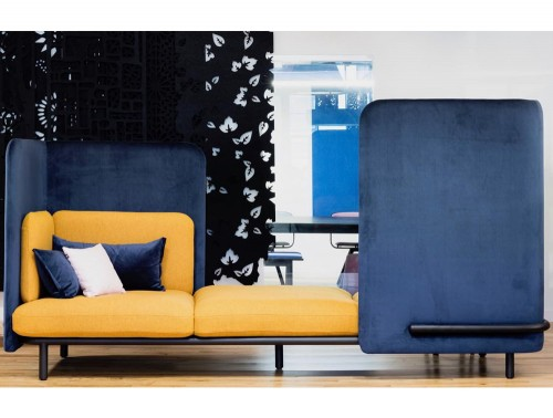 BuzziSpark-Acoustic-3-Seat-Relaxation-Pod-Blue-and-Yellow-Soft