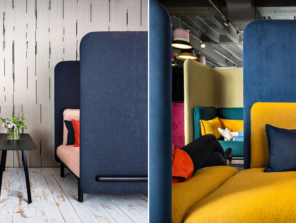 BuzziSpark-Acoustic-Lounge-comfy-Sofa-and-Relaxation-Pod-Duo-Blue-Pink-Yellow-Green