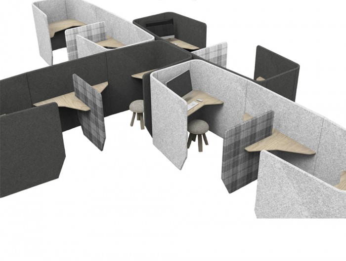 BuzziVille-Modular-Freestanding-Acoustic-Configurations-Grey-Office-Desk-Open-Space