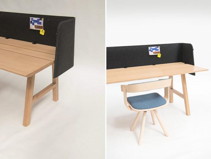 BuzziWrap-Half-Front-Desk-Acoustic-Panel-Dark-Grey-with-Wooden-Table