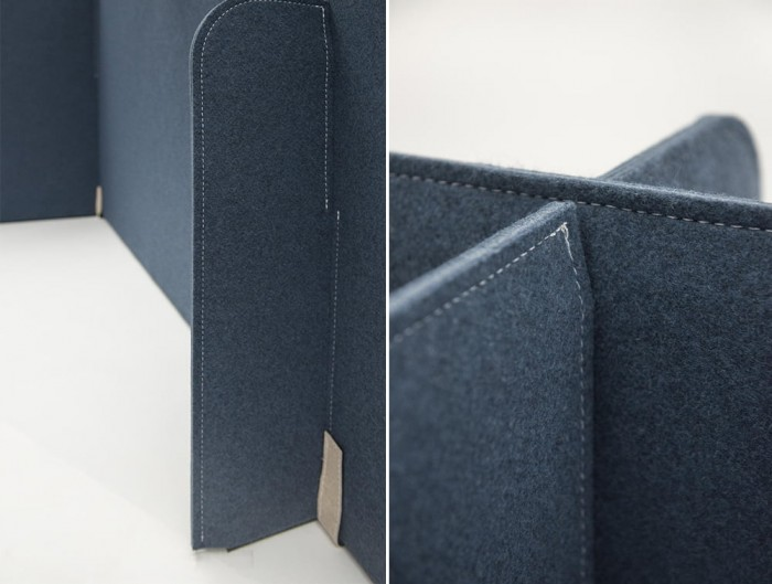 BuzziZone Acoustic Freestanding Private Corner in Blue