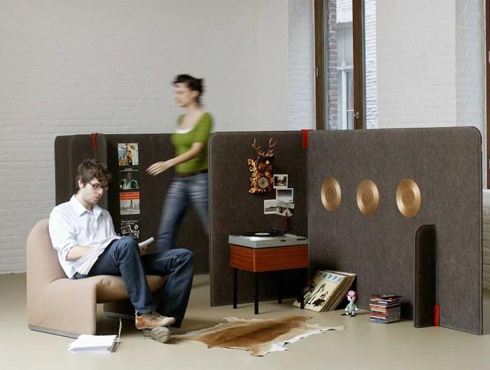 BuzziZone Acoustic Freestanding Room Paritions Breakout Area Reading