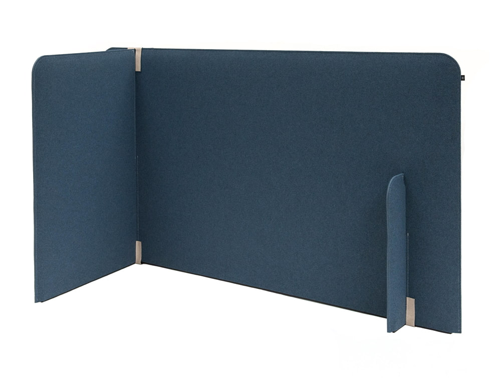 BuzziZone Acoustic Freestanding Room Partition in Blue
