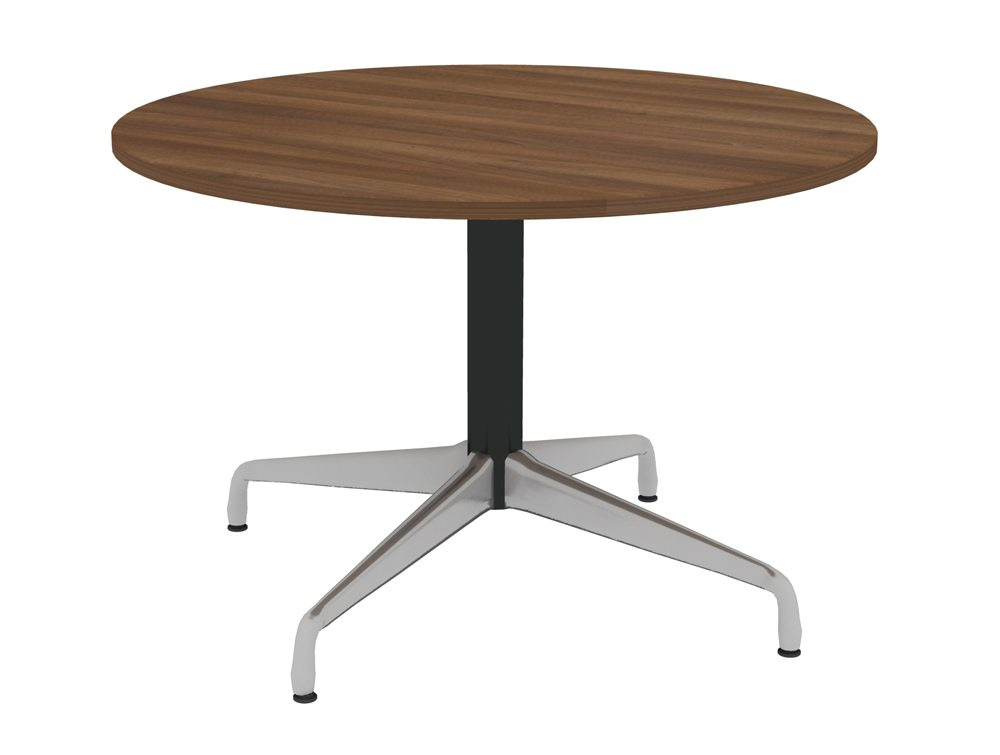 Cruise Circular Meeting Table with Chrome Base