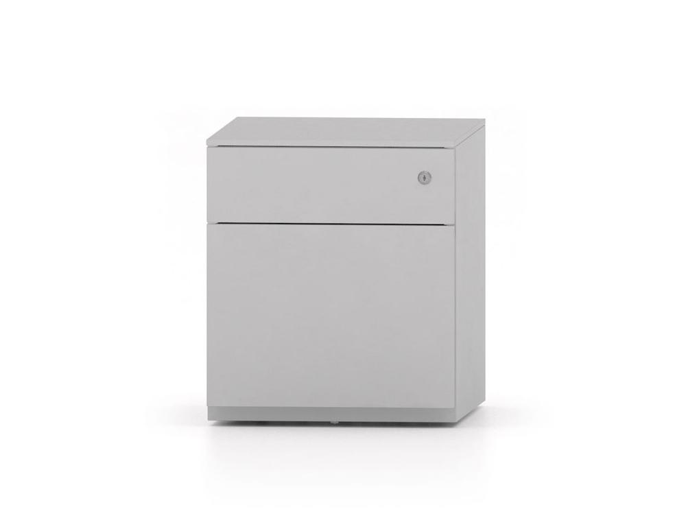 CUBE Low Steel Pedestal 500 x 410 x 495 mm silver PMS4511-SV