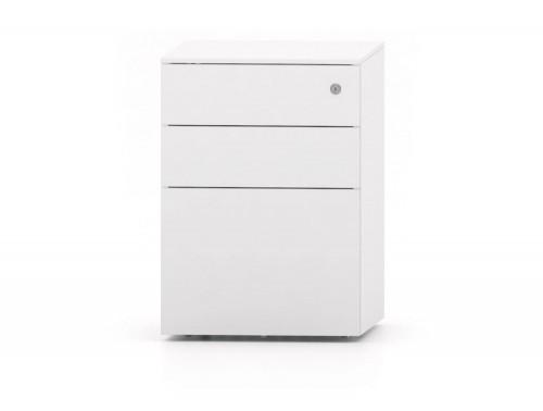 CUBE Steel Pedestal 500 x 410 x 597 mm white PMS4521-WH