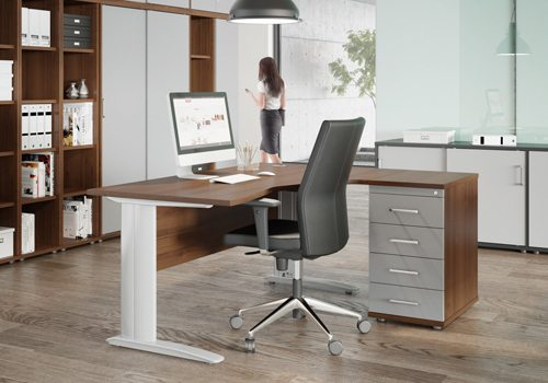 Cable Managed Desk Legs