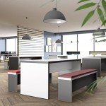 Canteen Bench Tables and Seating in Office Setting