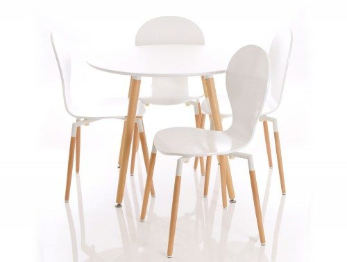 Canteen Parisian Table and 4 Seat Set