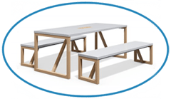 Canteen Seating Bench