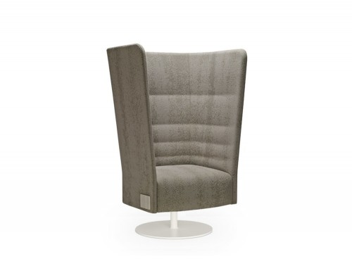 Cell128 Single-Seater Swivel Chair with Round Steel Central Base