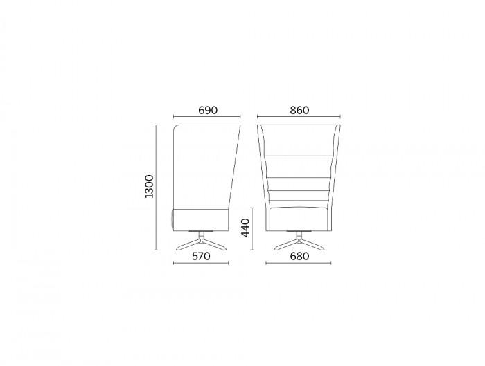 Cell128 Single-Seater with Swivel 4-Spoke Base in Tubular Steel Dimensions.jpg