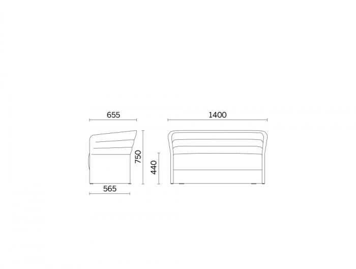 Cell72 2-Seater Sofa Full Height Frame Dimensions.jpg