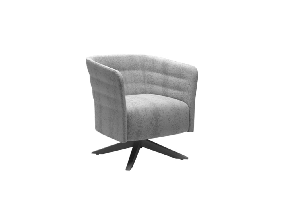 Cell72 Single-Seater Chair with Fixed Steel Base and 4 Legs in Wood