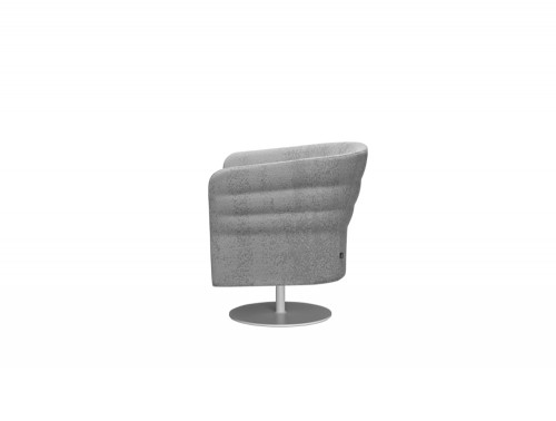 Cell72 Single-Seater Swivel Chair with Round Steel Central Base