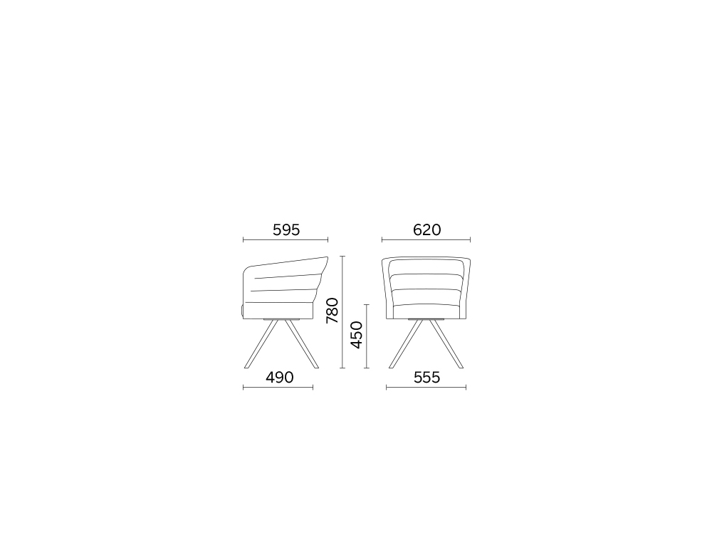 Cell75 Single Seater Comfortable Chair with 4 Legs 4 Dimensions.jpg
