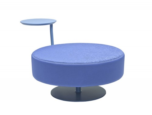 CellDot Pouf with Round Steel Central Base and Swivelling Tablet 2.jpg