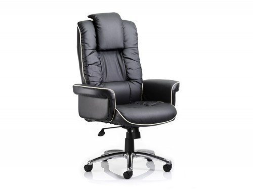 Chelsea Executive Chair Black Bonded Leather With Arms Featured Image