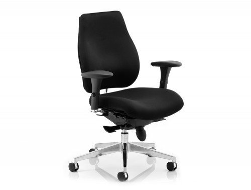 Chiro Plus Ergo Posture Chair Black With Arms Image 2