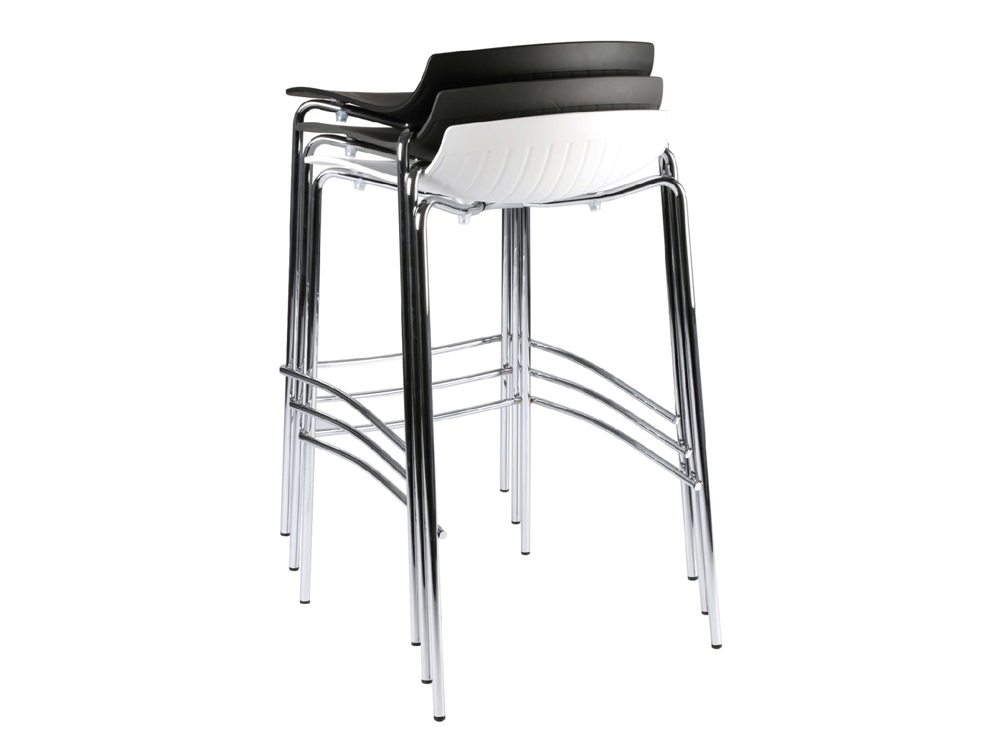 City 4 Legged Translucent Stool Stacked