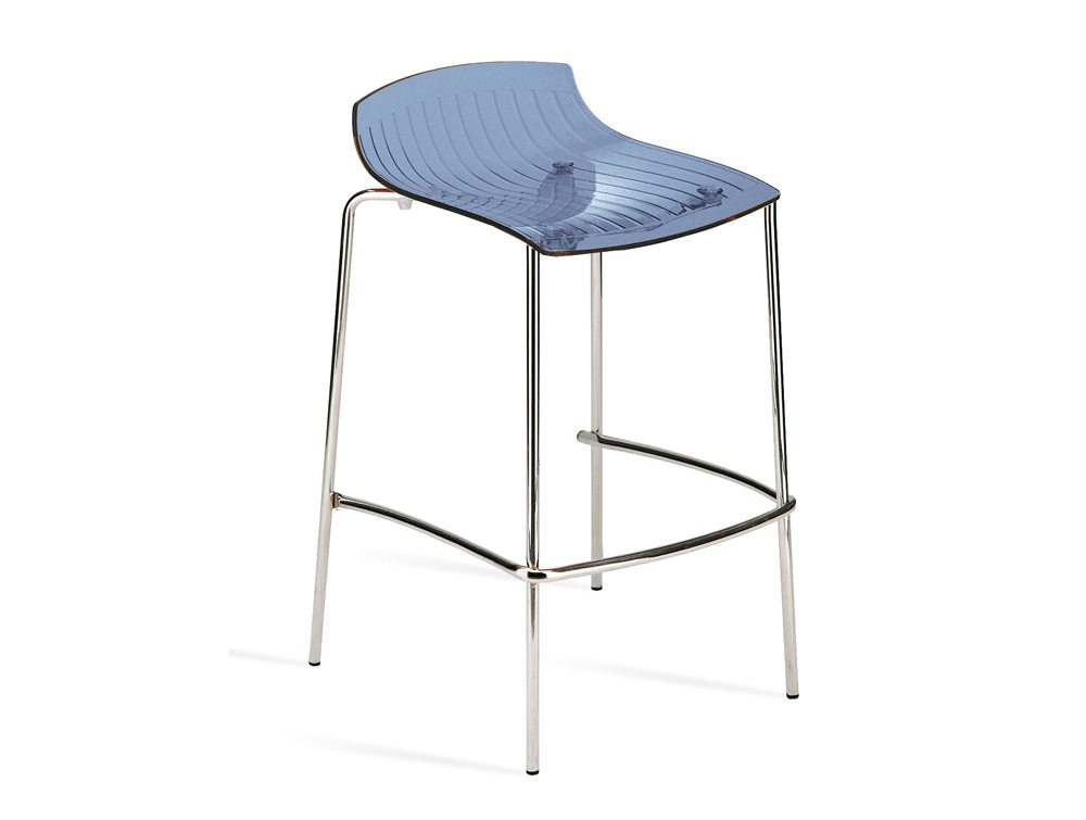 City Translucent 4 Legged Stool - Blue