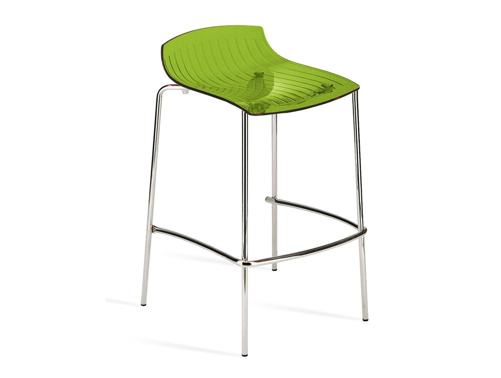City Translucent 4 Legged Stool - Green