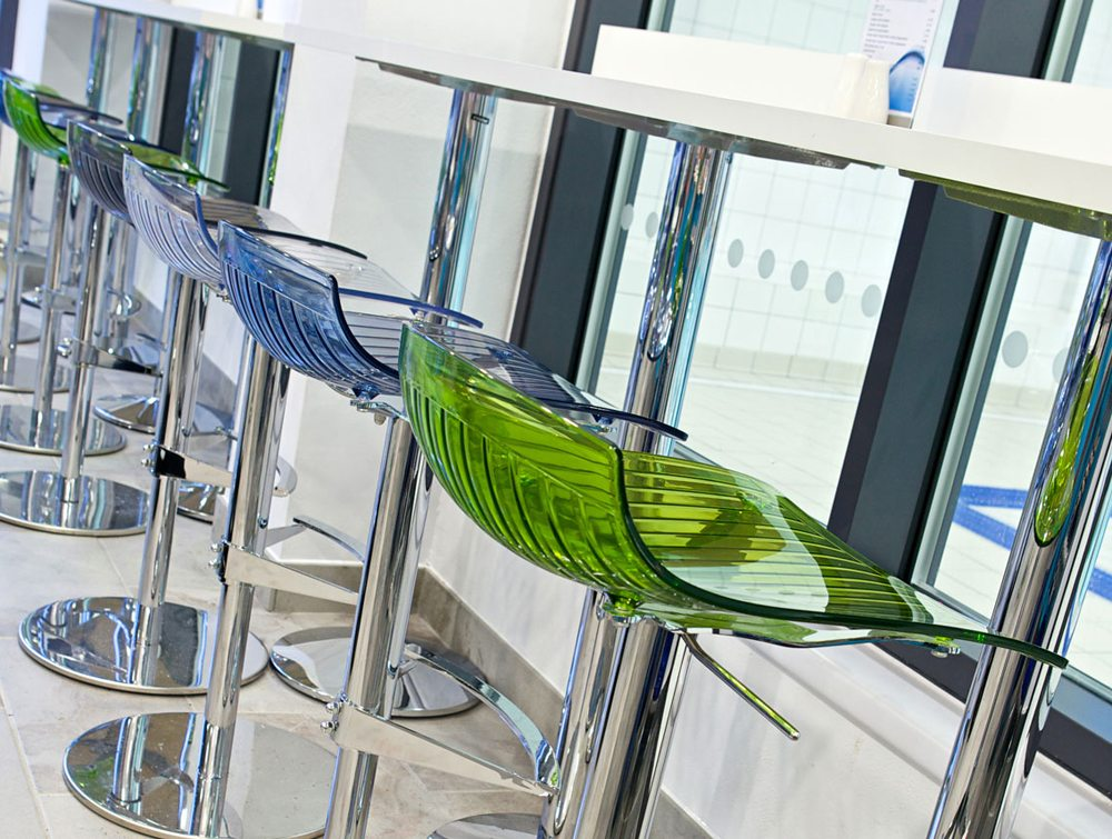 City Translucent Height Adjustable Stool Details