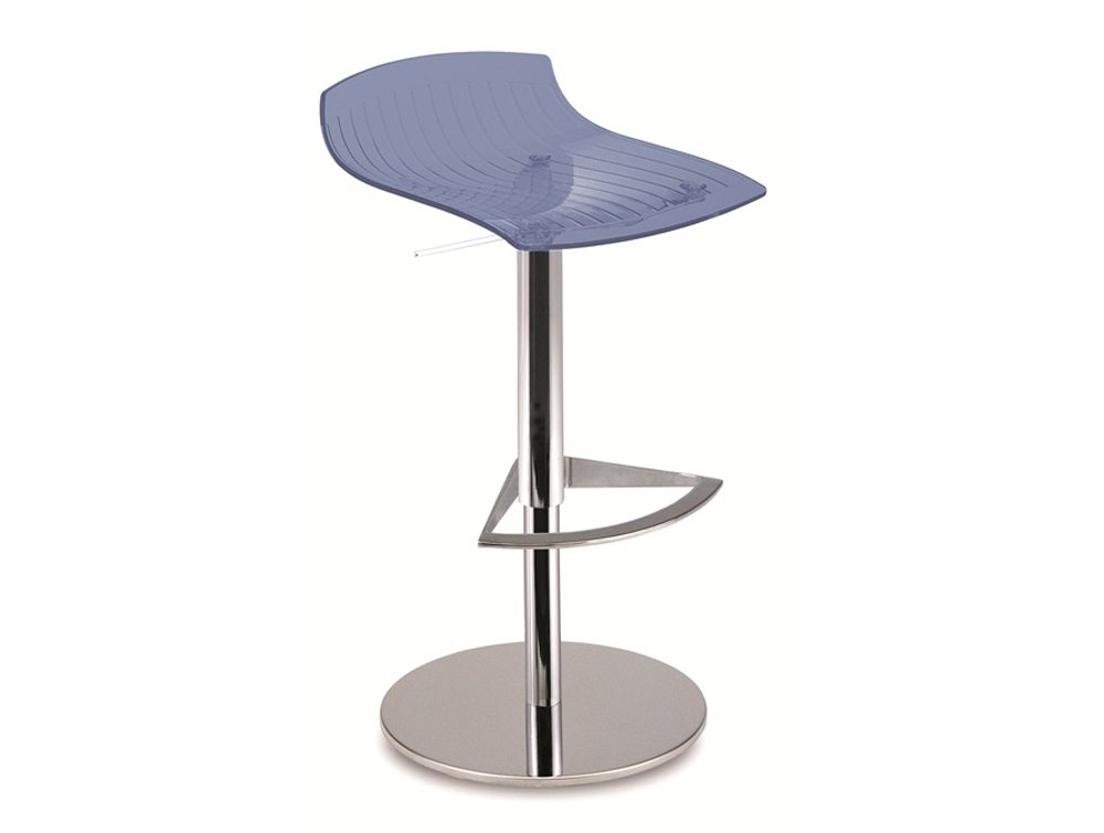 City Translucent Height Adjustable Stool - Blue