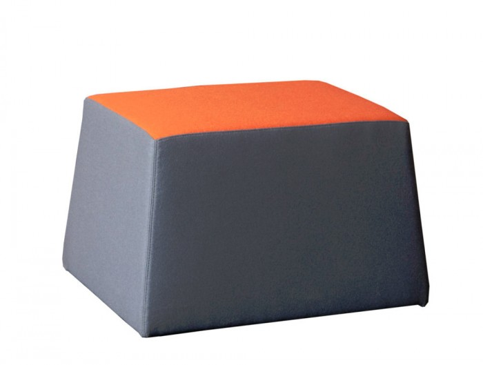 Converse High Back Acoustic Seating Pod Pouffe in Grey and Orange