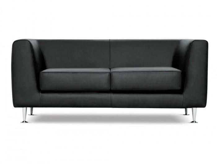 Cube Box Armchair Sofa Range 2 Seater in Black