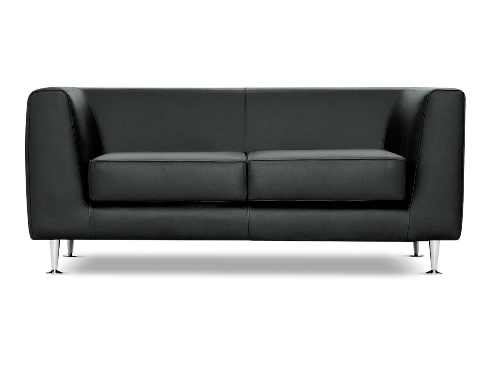 Cube Box Armchair Sofa Range 2 Seater in Black