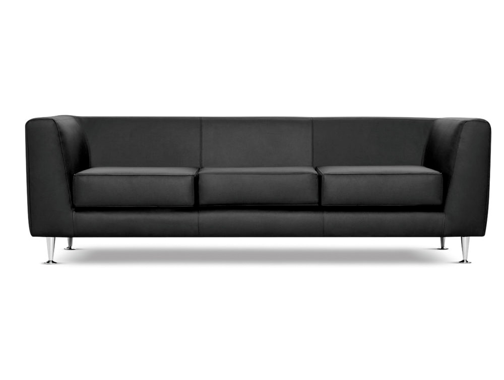 Cube Box Armchair Sofa Range 3 Seater in Black