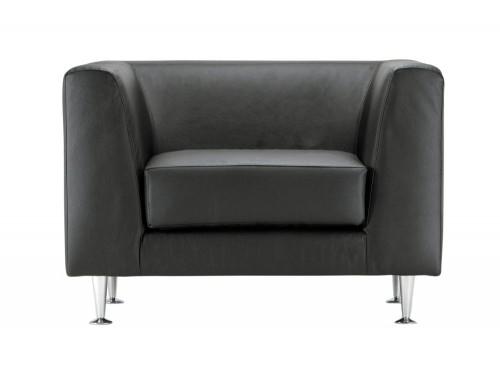 Cube Box Armchair Sofa Range Single in Black