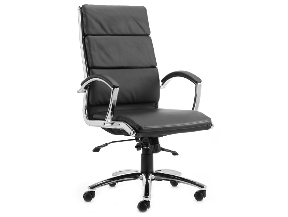 Dynamic Classic Executive Chair High Back In Black Leather