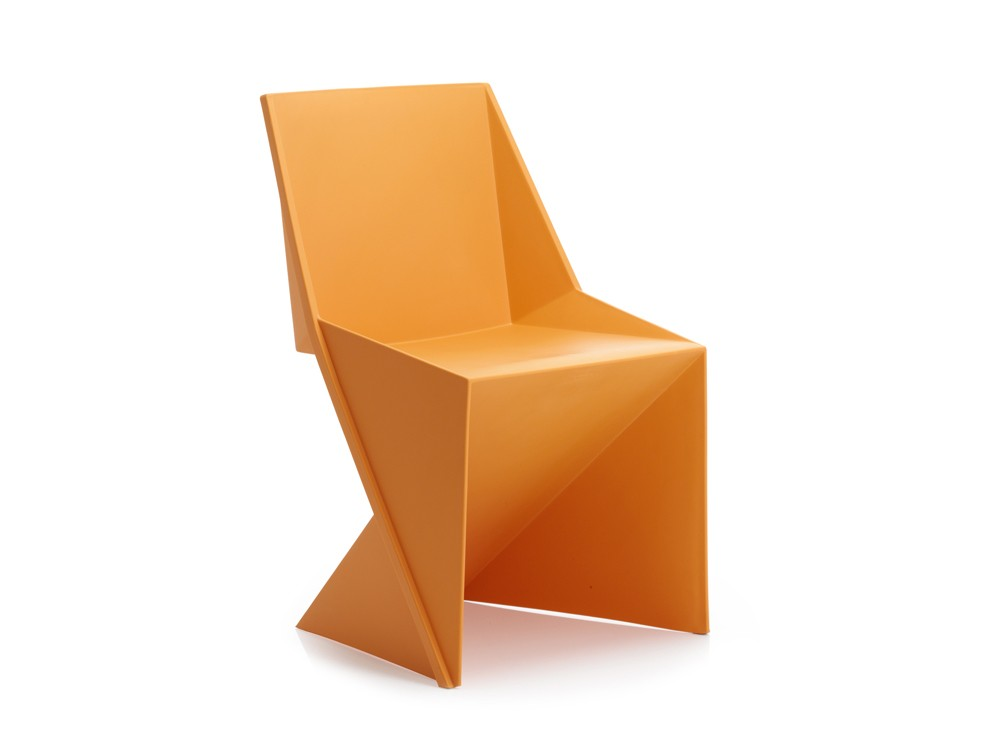 Dynamic freedom stackable chair in mango polypropylene