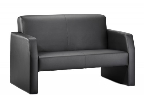 Dynamic oracle sofa in black leather