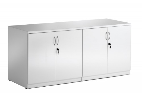 Dynamic credenza top in white high gloss with keys