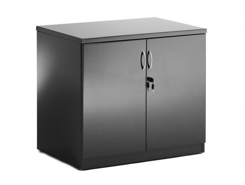 Dynamic desk high cupboard in black high gloss