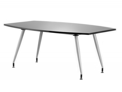 1800mm width dynamic boardroom black table in high gloss