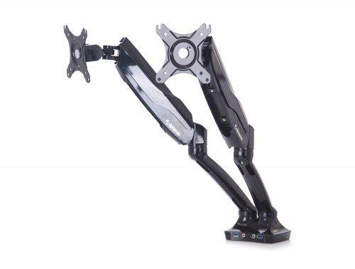 Dynamic Monitor Arm Double in Black