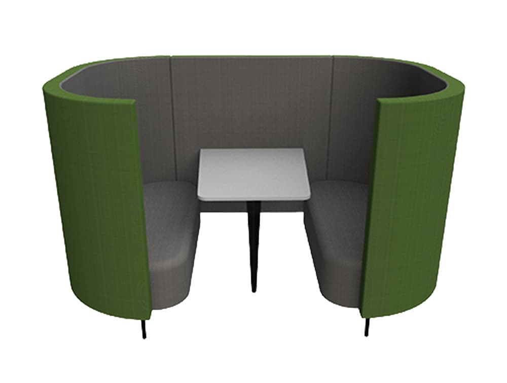 Delia 4 Seater Meeting Den with Table