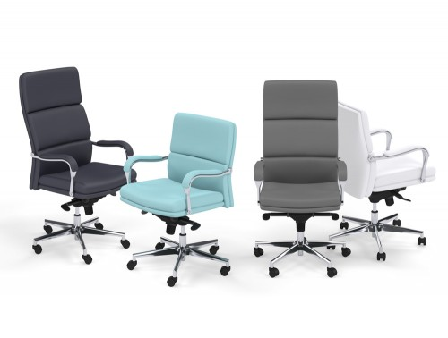 Denver Executive Office Chairs with Padded Arms in Funky Colours