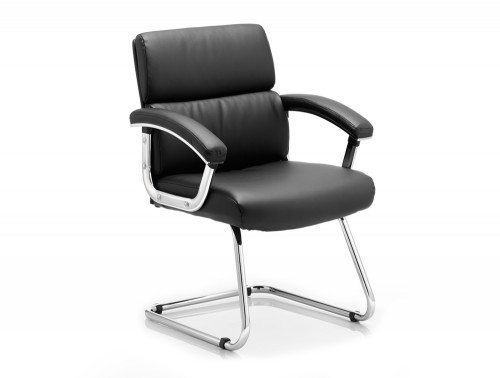 Desire Visitor Cantilever Chair Black With Arms Featured Image