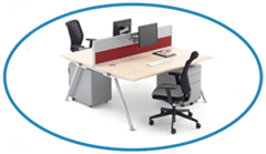 Desk Mounted Screens with Monitor Arms Desk Accessories