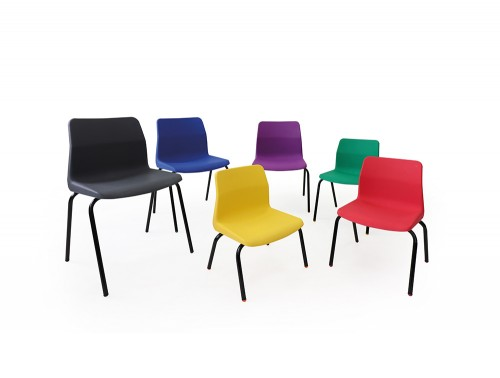 Dora Ergonomic Plastic Stackable School Chair in Different Sizes and Colours
