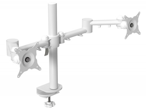Double Monitor Arm White