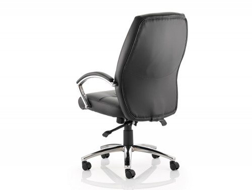 Good Dune Executive Chair Black Bonded Leather High Back With Arms Image 3 ...